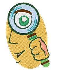 Detective embroidery design