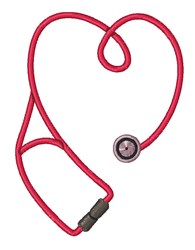 Stethoscope embroidery design