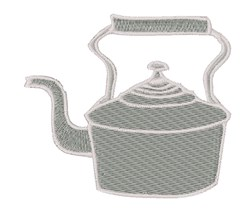 Tea Kettle embroidery design
