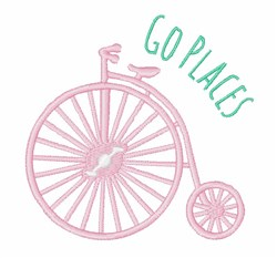 Go Places embroidery design