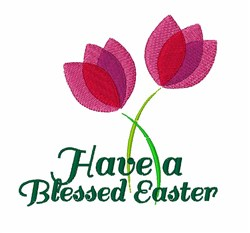 Blessed Easter embroidery design