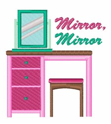 Mirror Mirror embroidery design