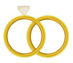 Wedding Rings embroidery design