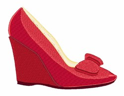 Red Shoe embroidery design