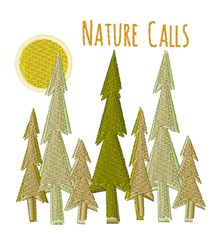 Nature Calls embroidery design
