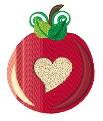 Love Apple embroidery design