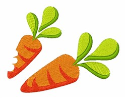 Two Carrots embroidery design