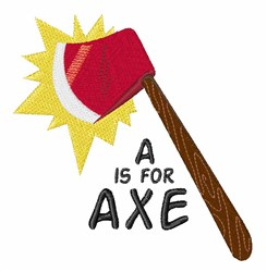 A For Axe embroidery design