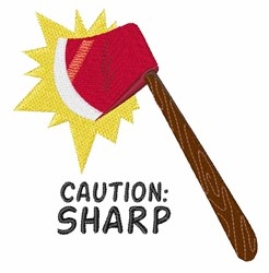 Caution Sharp embroidery design