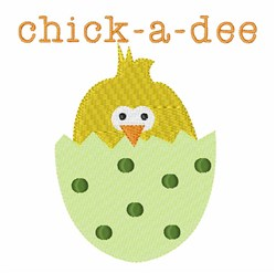 Chick-A-Dee embroidery design