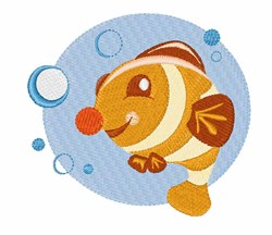 Bubble Fish embroidery design