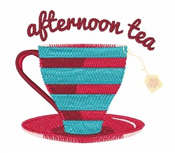 Afternoon Tea embroidery design