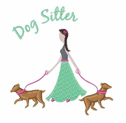 Dog Sitter embroidery design
