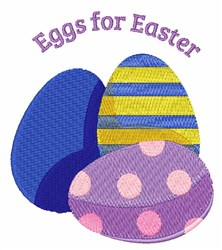 Eggs For Easter embroidery design