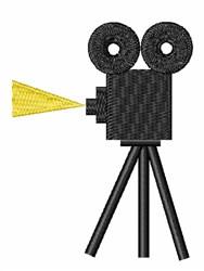 Movie Camera embroidery design