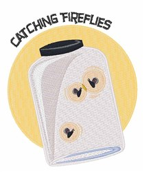 Catching Fireflies embroidery design