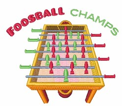 Foosball Champs embroidery design