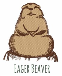 Eager Beaver embroidery design