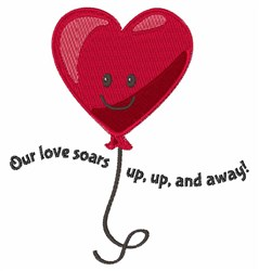 Our Love Soars embroidery design