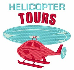 Helicopter Tours embroidery design