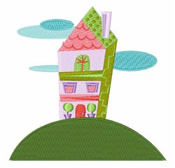 Pretty House embroidery design