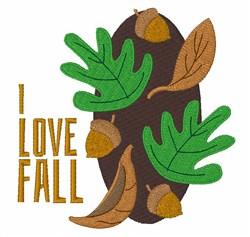 I Love Fall embroidery design
