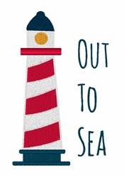 Out To Sea embroidery design