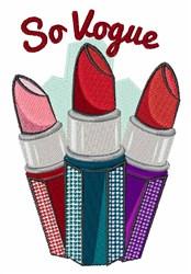 So Vogue embroidery design