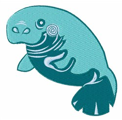Manatee Animal embroidery design