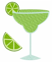 Lime Margarita embroidery design