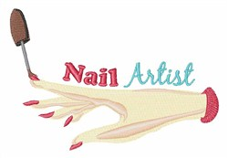 Nail Artist embroidery design
