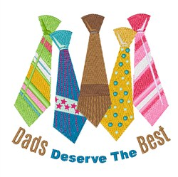 Dad Best embroidery design