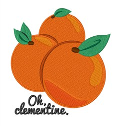 Oh Clementine embroidery design