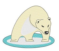 Polar Bear embroidery design