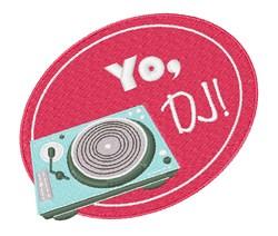 Yo, DJ! embroidery design