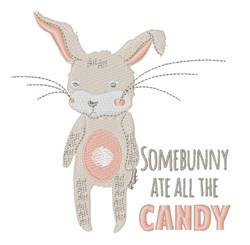 Somebunny Candy embroidery design