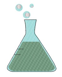 Science Beaker embroidery design