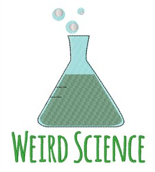 Weird Science embroidery design