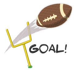 Goal Post embroidery design