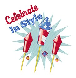 Celebrate in Style embroidery design
