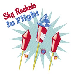 Sky Rockets embroidery design