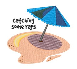 Catching Some Rays embroidery design