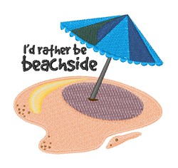 Rather be Beachside embroidery design