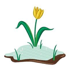 Snow Tulip embroidery design