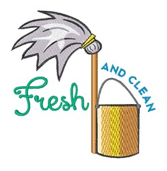Fresh and Clean embroidery design