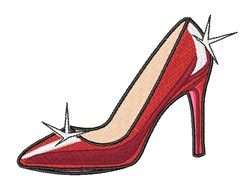High Heeled Shoe embroidery design