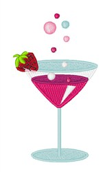 Cosmopolitan Drink embroidery design