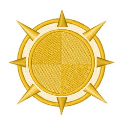 Solar Compass embroidery design