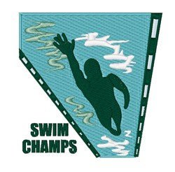 Swim Champs embroidery design