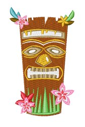 Tropical Tiki Mask embroidery design